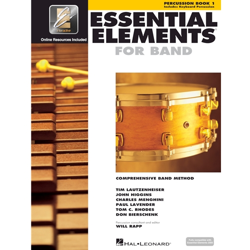 ESSENTIAL ELEMENTS 2000 PERCUSSION BOOK 1