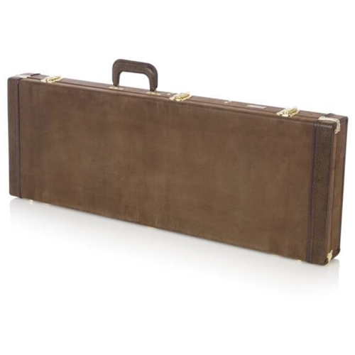 GATOR DELUXE ELECTRIC CASE, VINTAGE BROWN